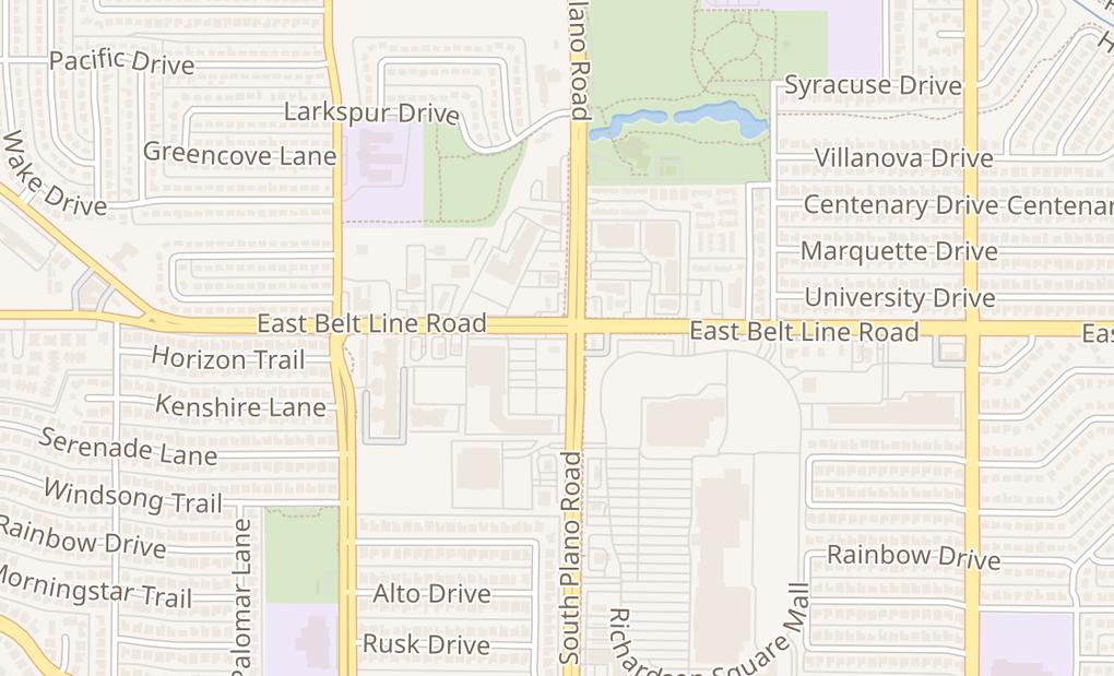 map of 1362 E Belt Line RdRichardson, TX 75081