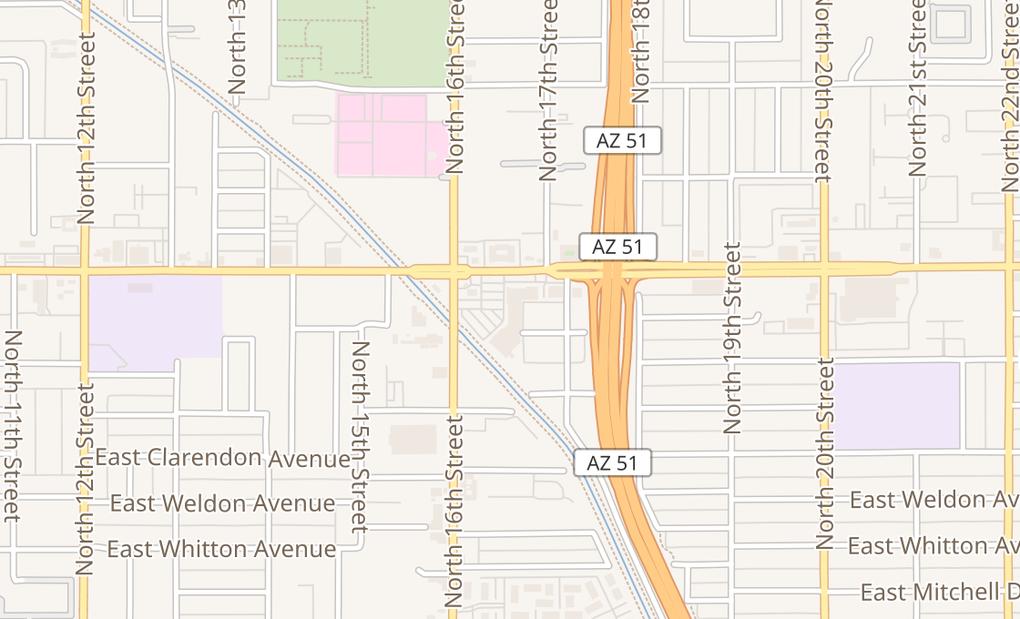 map of 4015 N 16Th StPhoenix, AZ 85016