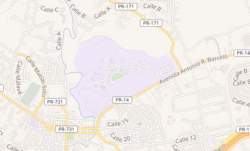 map of 8000 Ave Jesus T PineroCayey, PR 00736