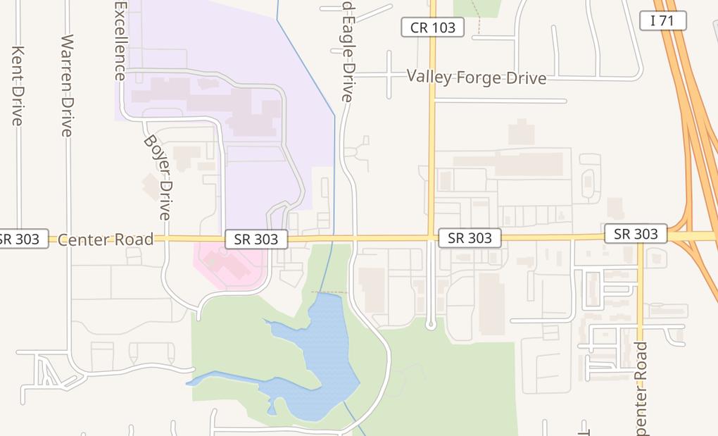 map of 3467 Center RdBrunswick, OH 44212