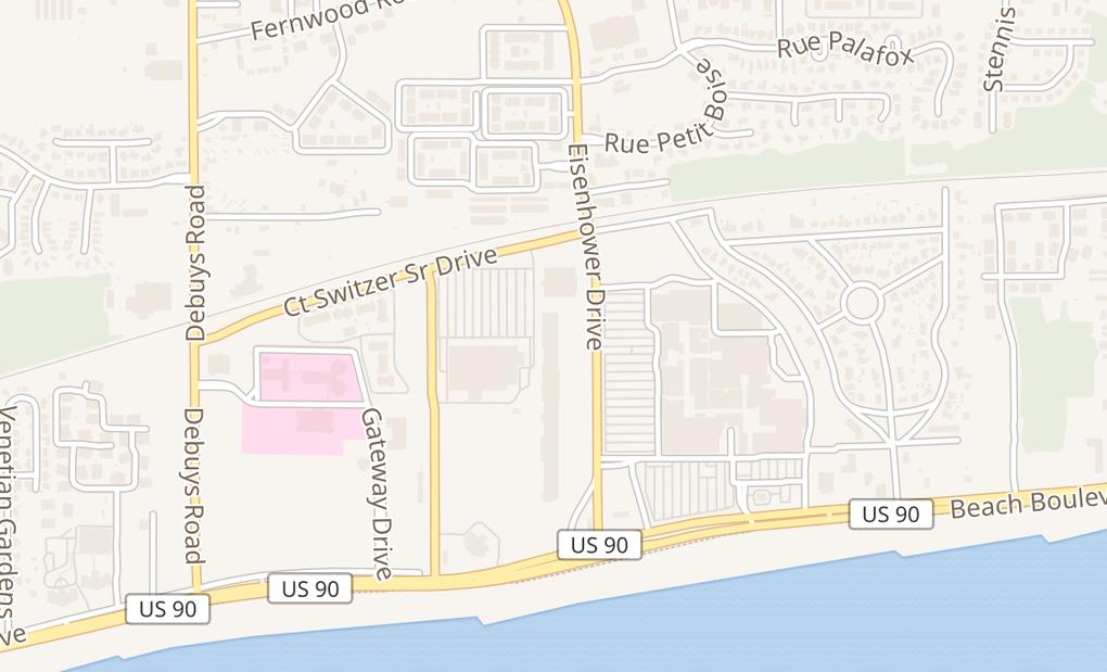 map of 2650 Beach Blvd Ste 43Biloxi, MS 39531