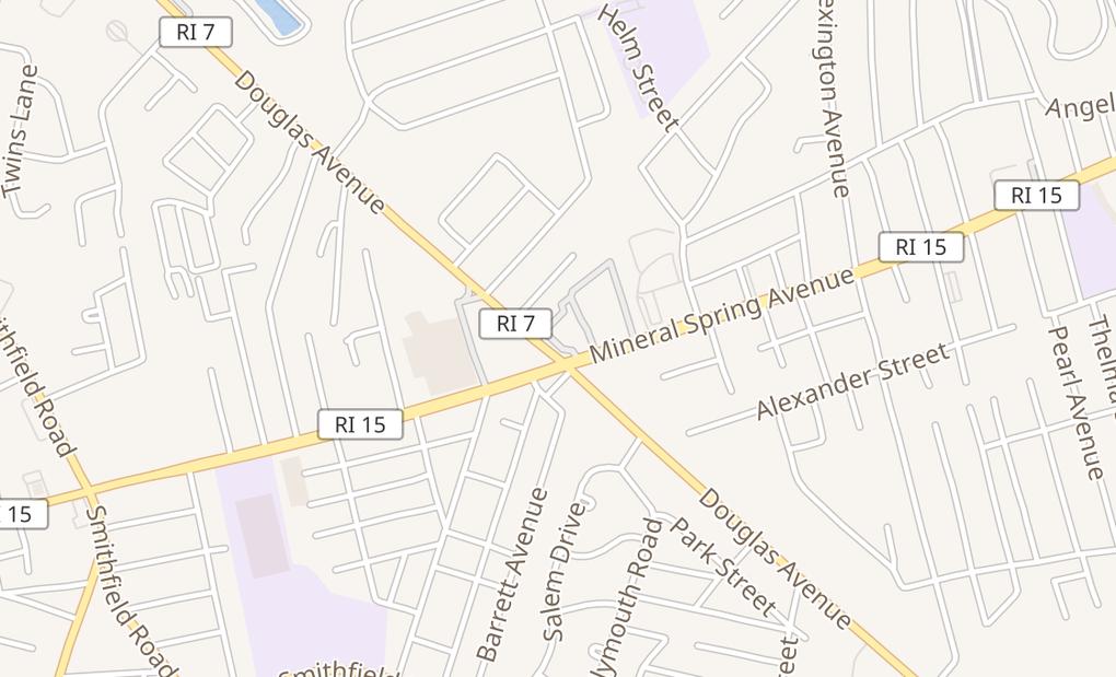 map of 1401 Douglas Ave Ste 1North Providence, RI 02904