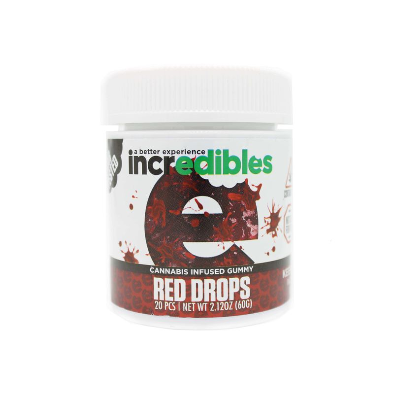 Incredibles Red Drop Gummy | 100mg - GTI
