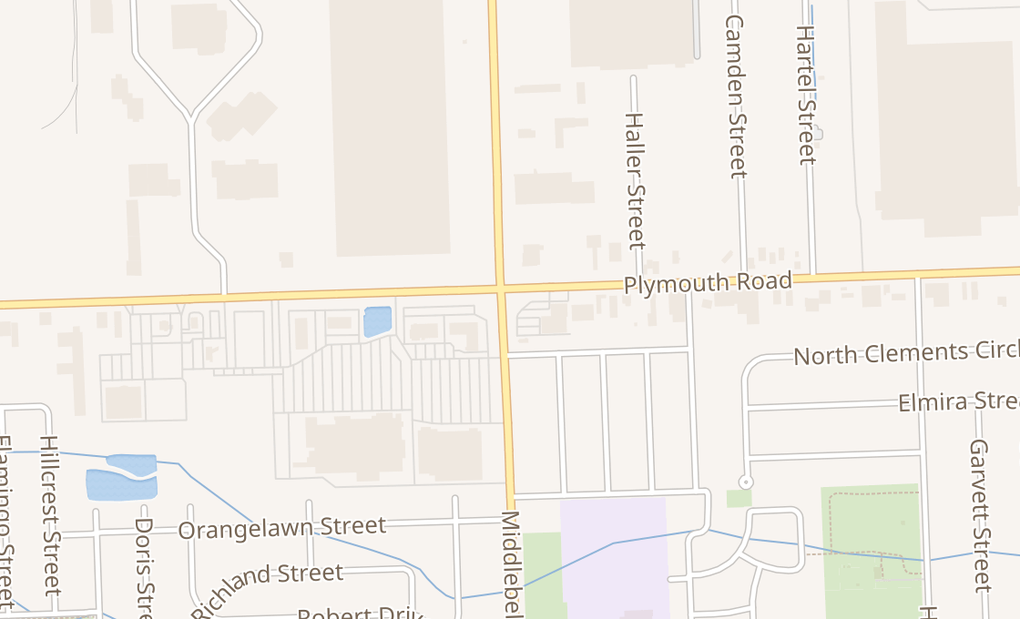 map of 11516 Middlebelt RdLivonia, MI 48150