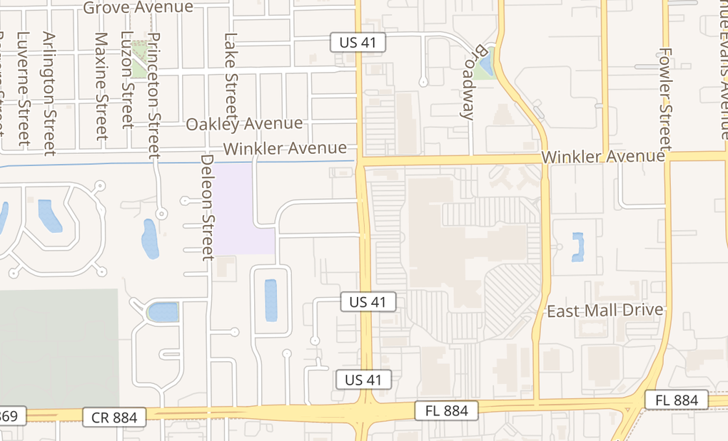 map of 4125 Cleveland Ave Ste 1030Fort Myers, FL 33901