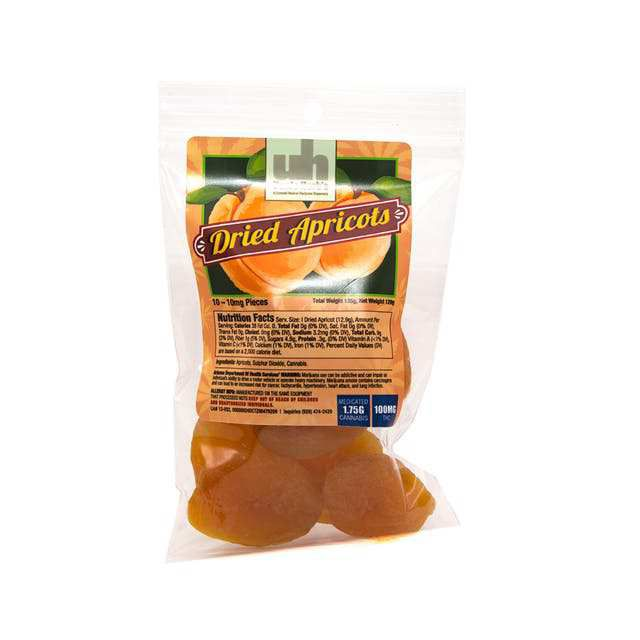 Dried Apricot 100mg - Uncle Herbs