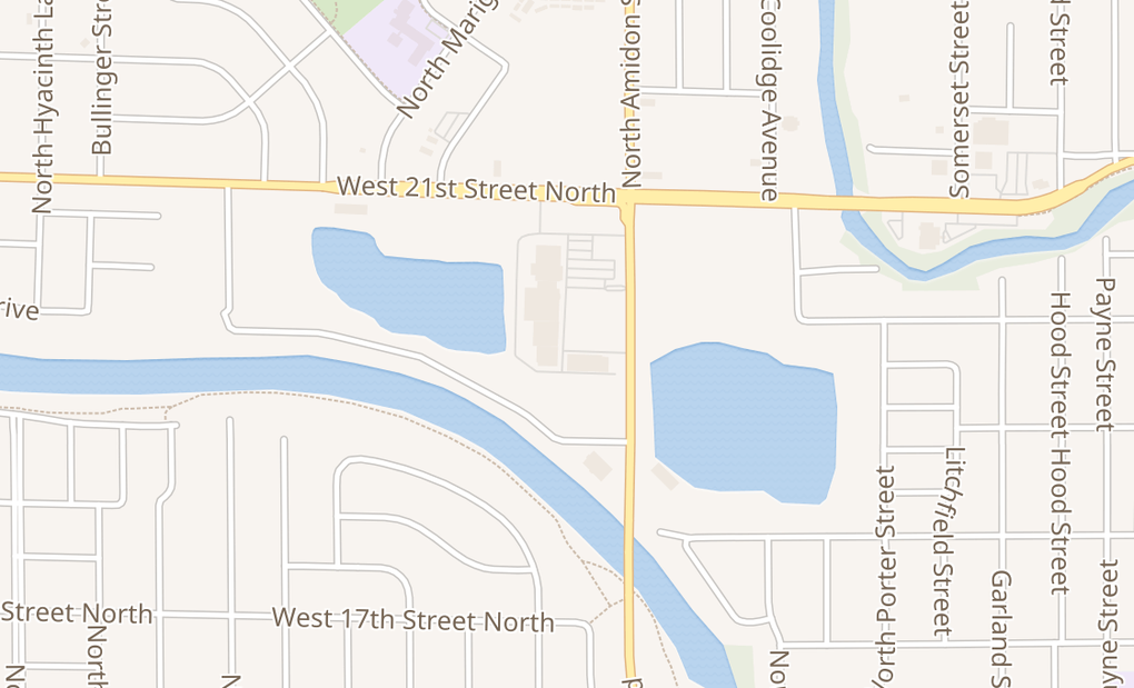 map of 2021 N Amidon Ave Ste 110Wichita, KS 67203