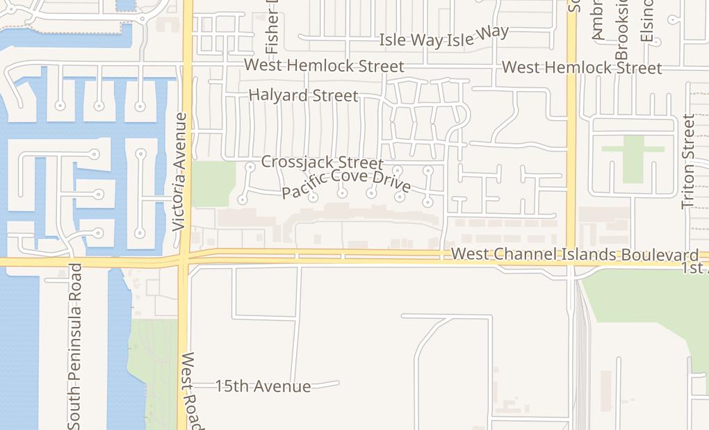 map of 605 W Chnnl Islnd Blvd Ste 605Port Hueneme, CA 93041