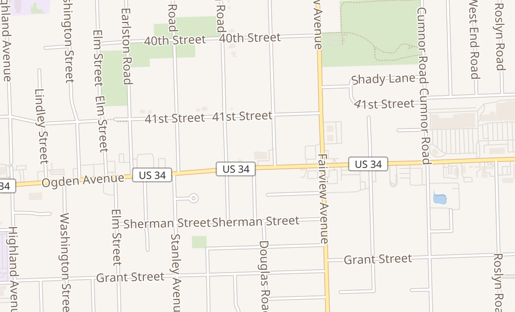 map of 504 Ogden Ave Ste 504 And 508Downers Grove, IL 60515