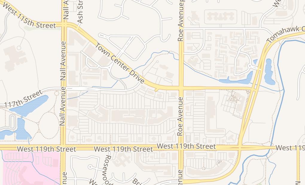 map of 4901 Town Center DrLeawood, KS 66211
