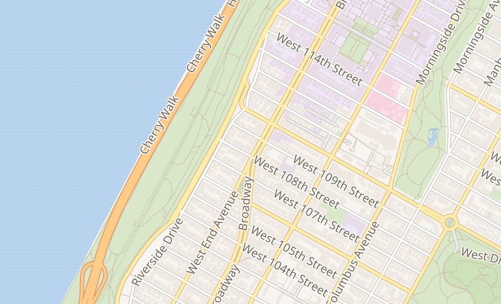 map of 2803 BroadwayNew York, NY 10025