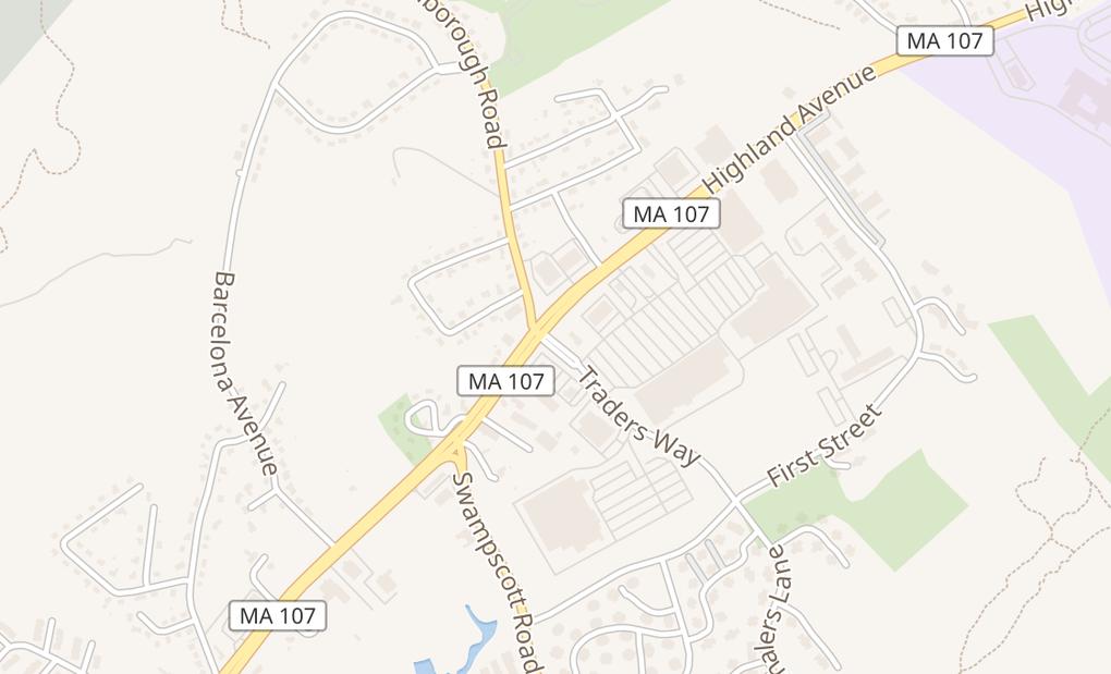 map of 276 Highland AveSalem, MA 01970