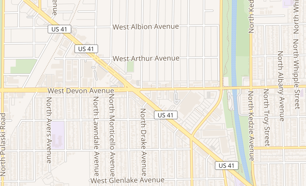 map of 3513 W Devon AveChicago, IL 60659