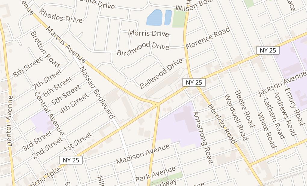 map of 2413 Jericho TnpkGarden Cty Park, NY 11040