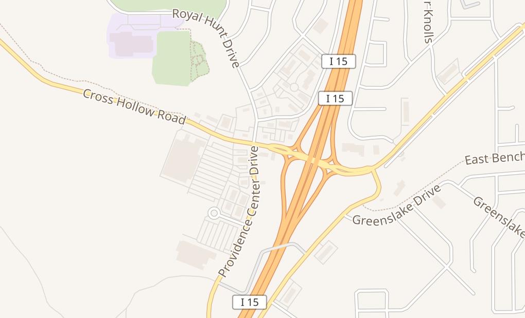 map of 1311 S Providence Center DrCedar City, UT 84720
