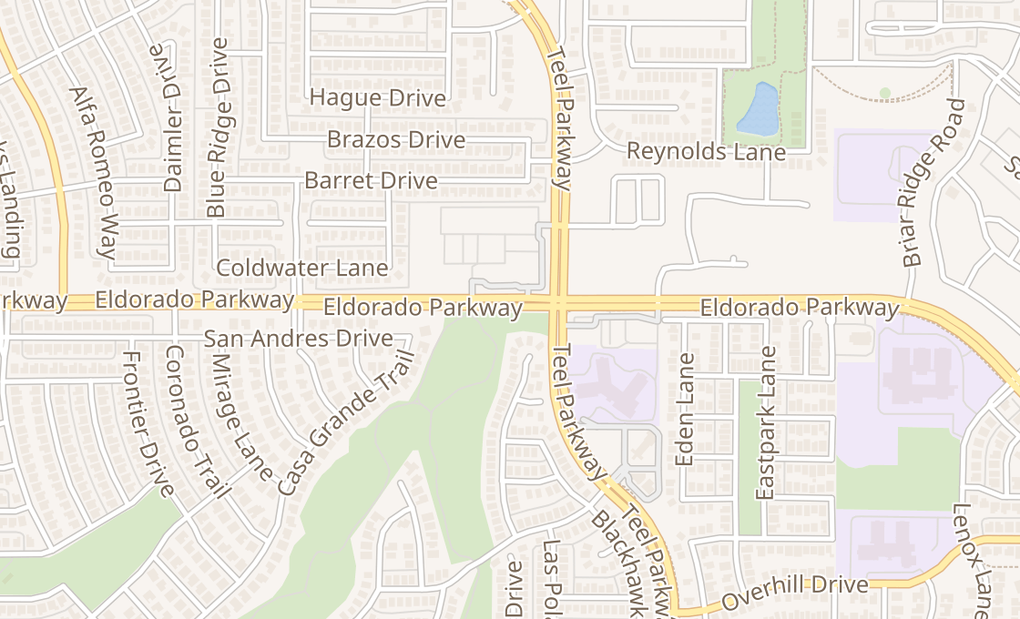 map of 2831 Eldorado Pkwy Ste 104Frisco, TX 75033
