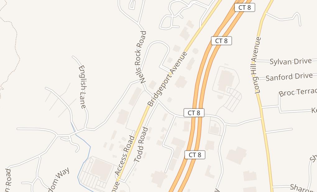 map of 494 Bridgeport AveShelton, CT 06484