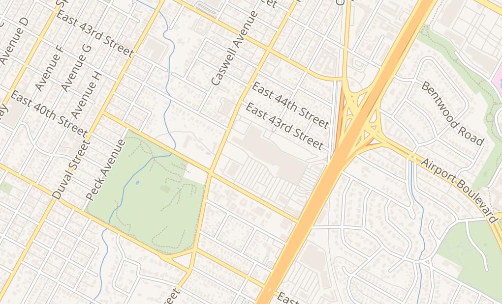 map of 1000 E 41St St Ste 840Austin, TX 78751