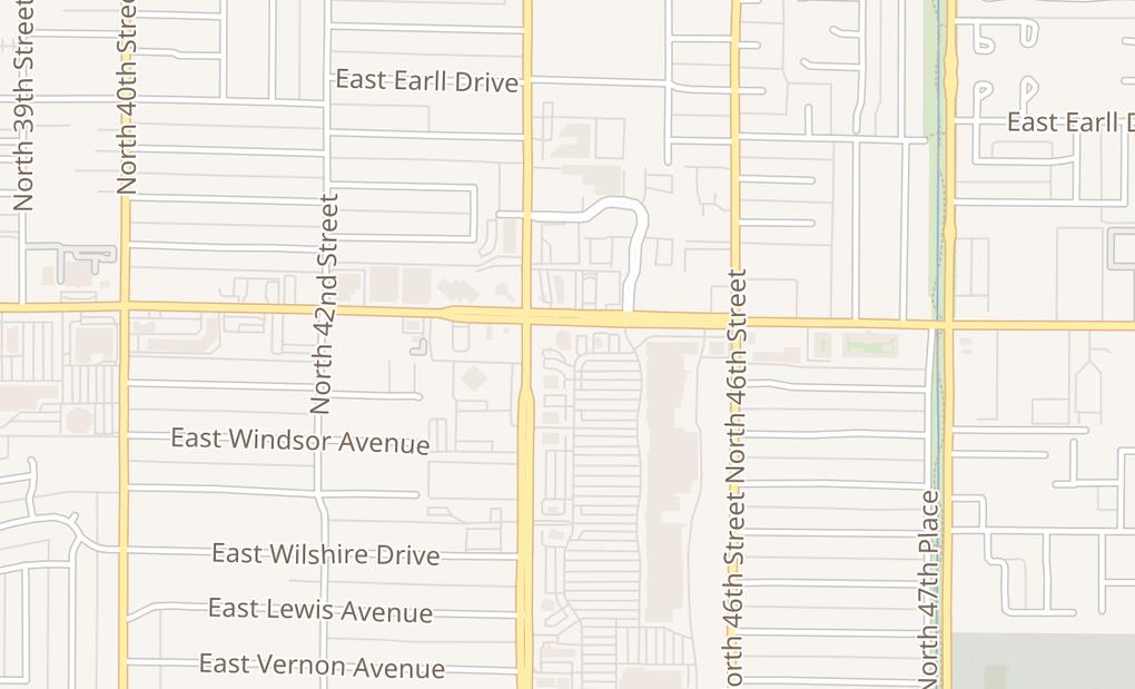 map of 4423 E Thomas Rd Ste APhoenix, AZ 85018
