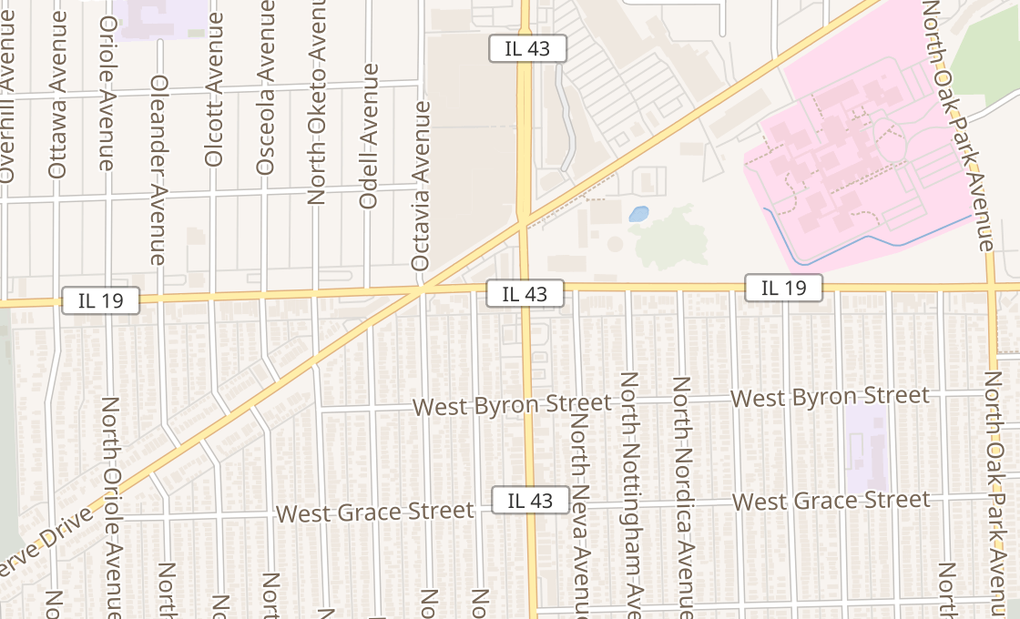 map of 7211 W Irving Park Rd Unit BChicago, IL 60634
