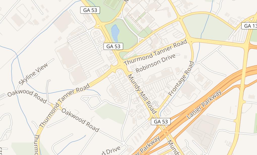 map of 3715 Mundy Mill RdOakwood, GA 30566