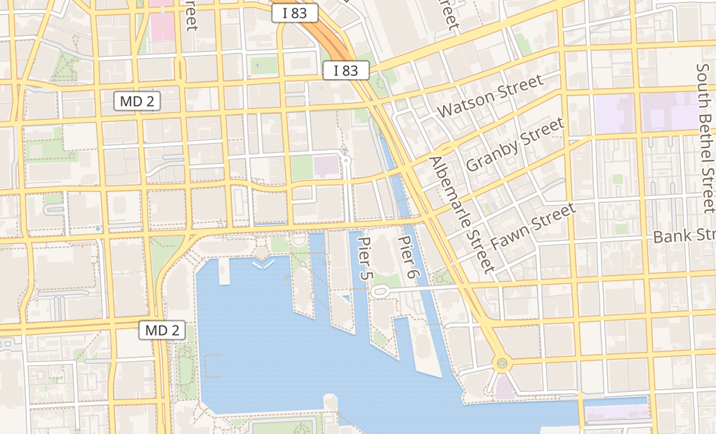 map of 700 East Pratt St Ste 135Baltimore, MD 21202