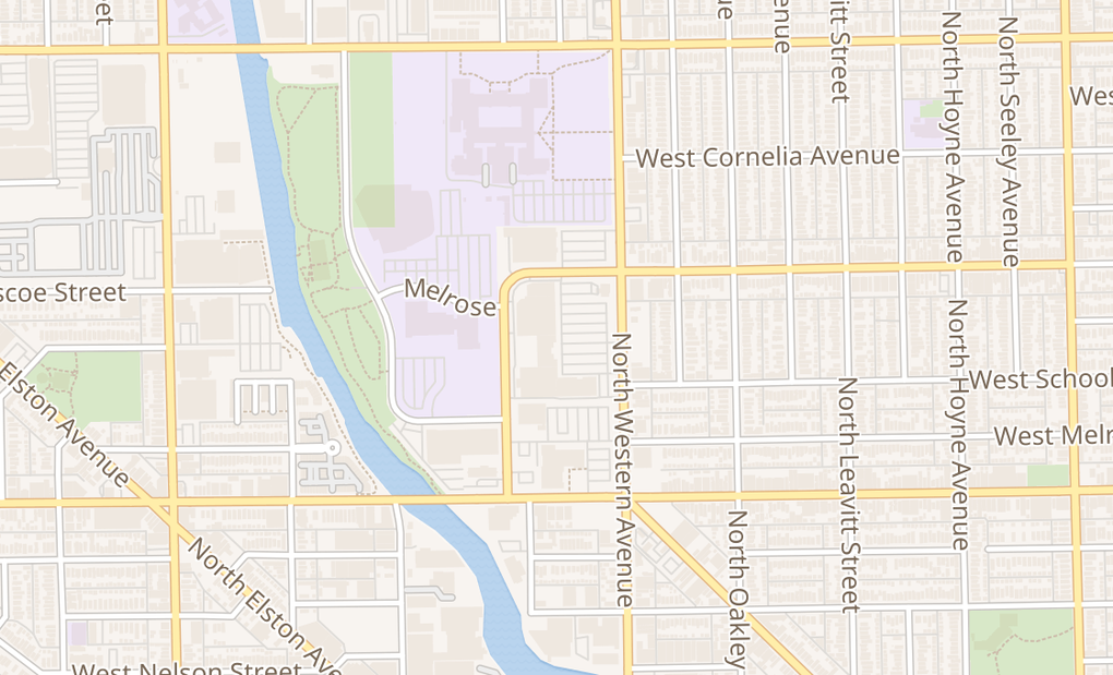 map of 3346 N Western AveChicago, IL 60618