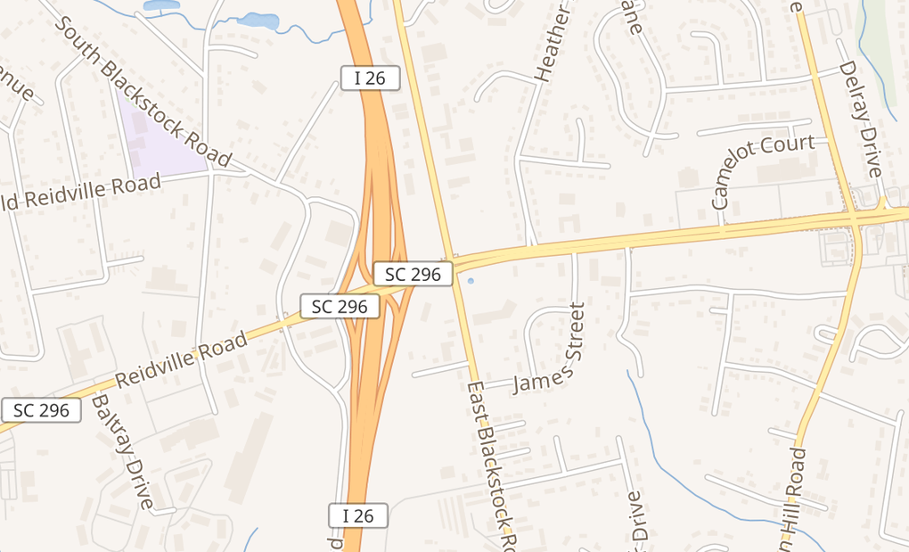 map of 111 E Blackstock Rd Ste 300Spartanburg, SC 29301