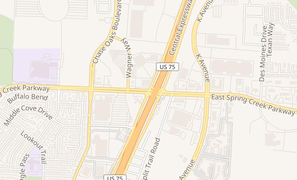 map of 101 W Spring Creek Pkwy Ste 735Plano, TX 75023