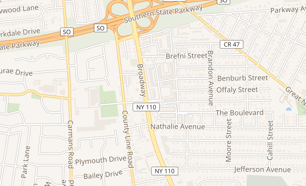 map of 805 BroadwayAmityville, NY 11701
