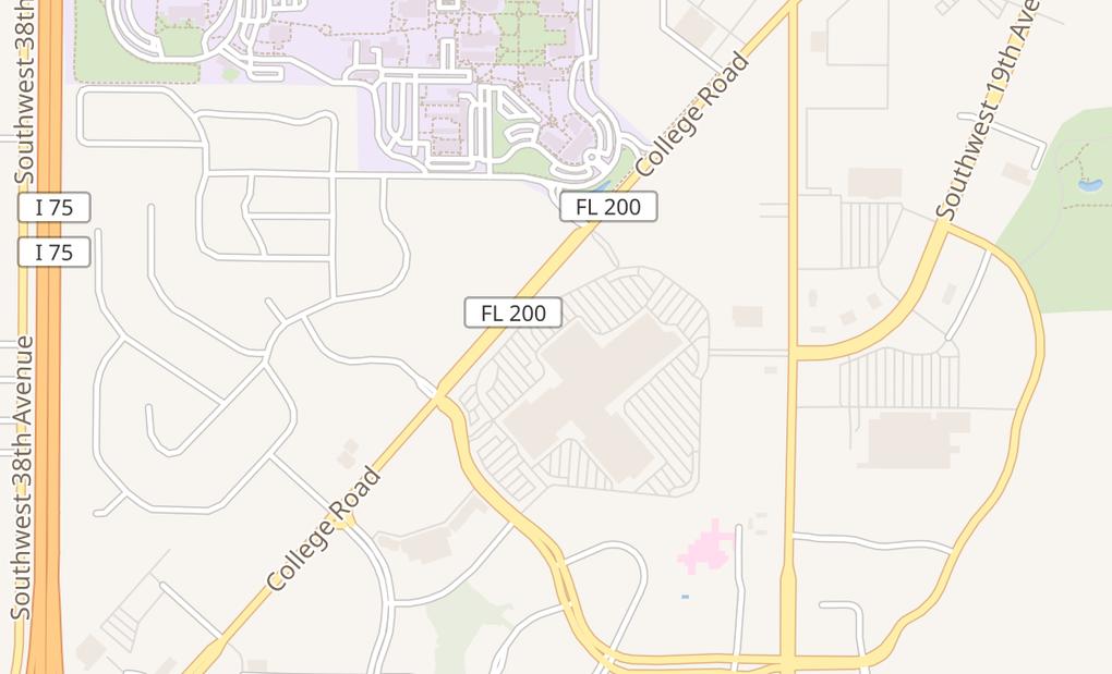 map of 3100 SW College Rd Ste 472BOcala, FL 34474