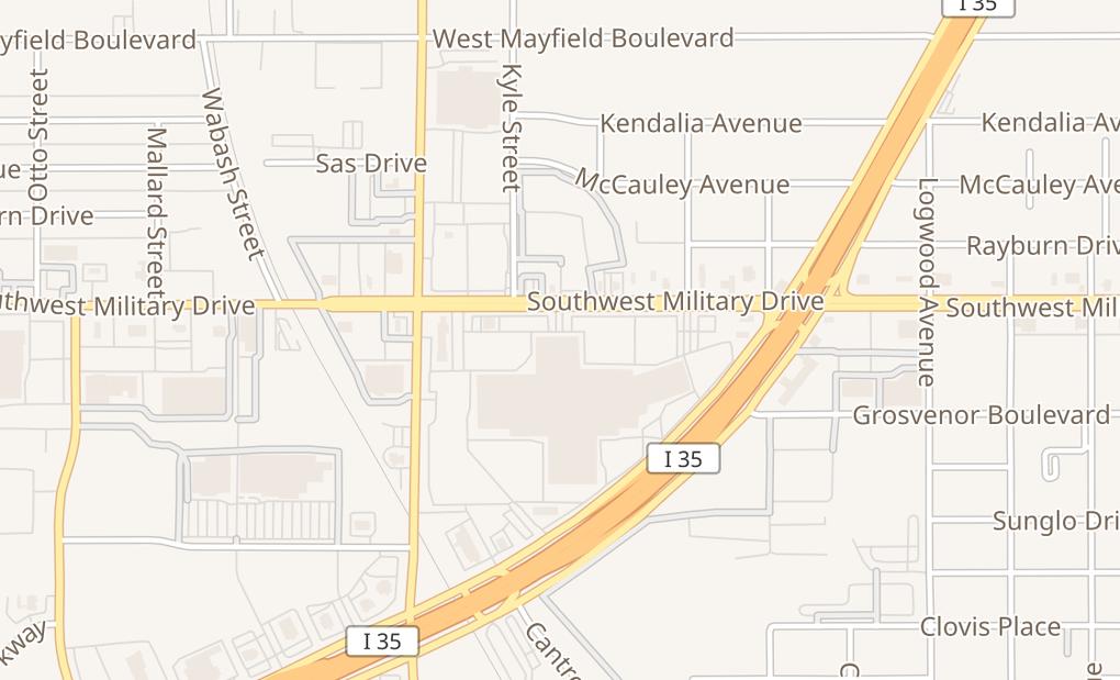 map of 2310 Sw Military Dr Ste 412San Antonio, TX 78224