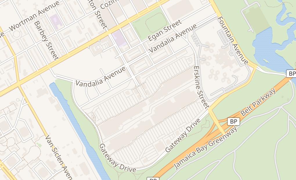 map of 494 Gateway Dr Ste K11Brooklyn, NY 11239