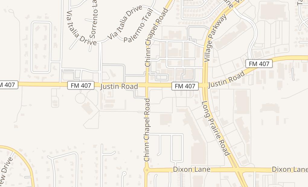 map of 3711 Justin Rd Ste 120Flower Mound, TX 75028