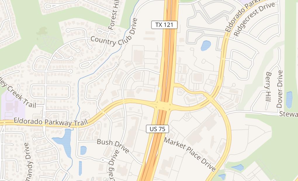 map of 2811 Craig Dr Ste 104Mckinney, TX 75070