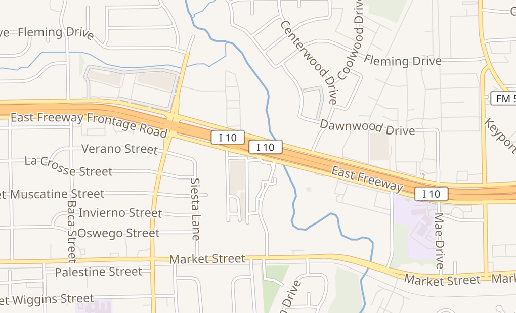 map of 11410 East Fwy Ste 180Houston, TX 77029