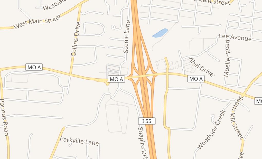 map of 1300 Veterans Blvd Ste EFestus, MO 63028