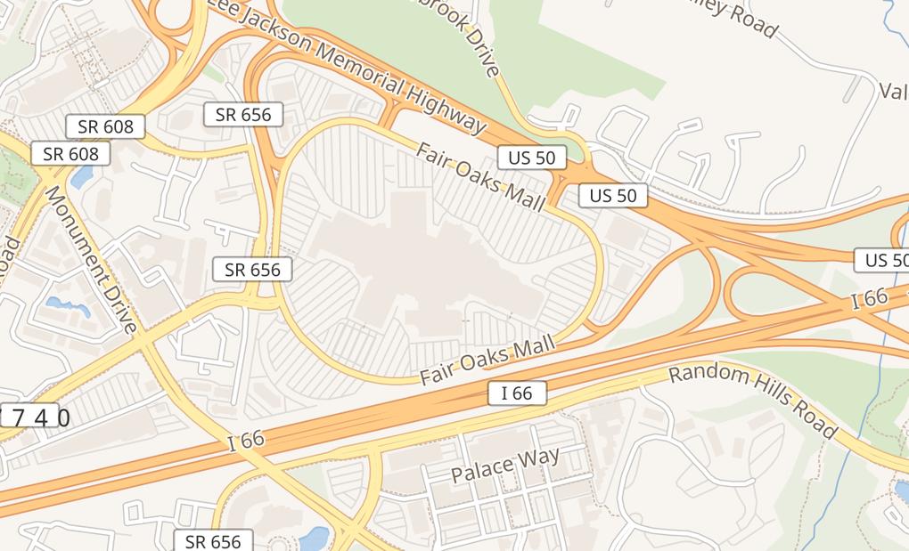 map of 11733 Fair Oaks MallFairfax, VA 22033
