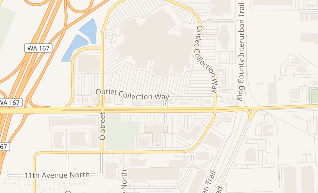 map of 1102 Outlet Collection Dr Sw Ste 104Auburn, WA 98001