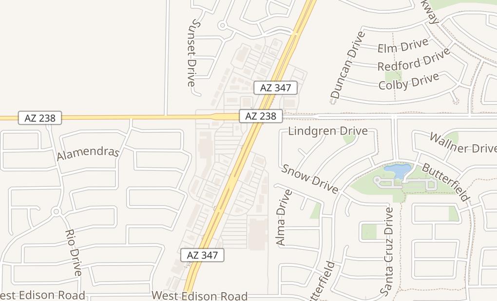 map of 21101 N John Wayne Pkwy Ste E101Maricopa, AZ 85139