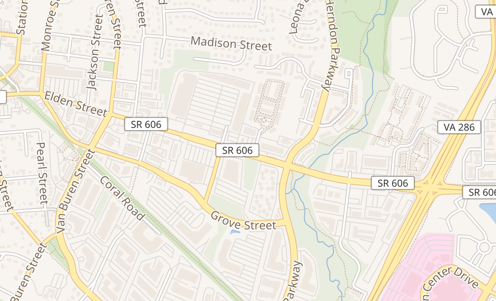map of 338 S Elden StHerndon, VA 20170