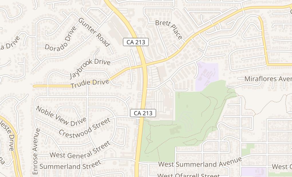 map of 1000 N Western AveSan Pedro, CA 90732