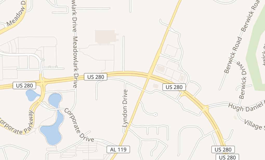 map of 5368 Hwy 280Birmingham, AL 35242
