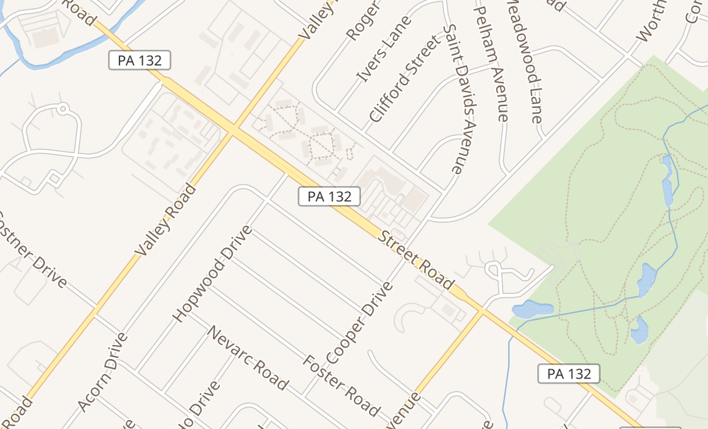 map of 1519 W Street RdWarminster, PA 18974