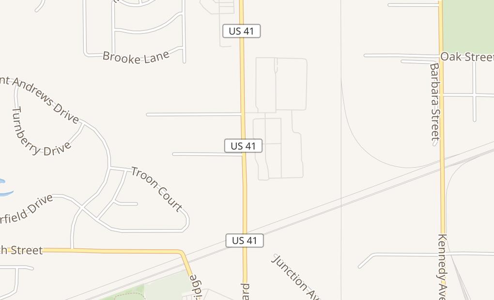 map of 713 US Highway 41Schererville, IN 46375