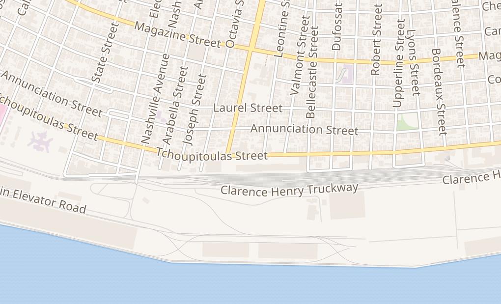 map of 5363 Tchoupitoulas StNew Orleans, LA 70115