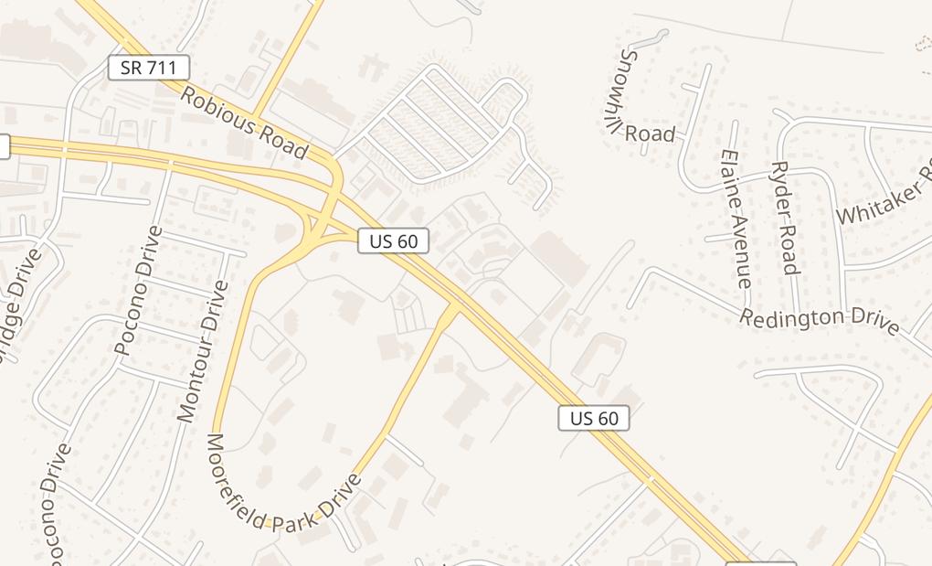 map of 9796 Midlothian TpkeRichmond, VA 23235
