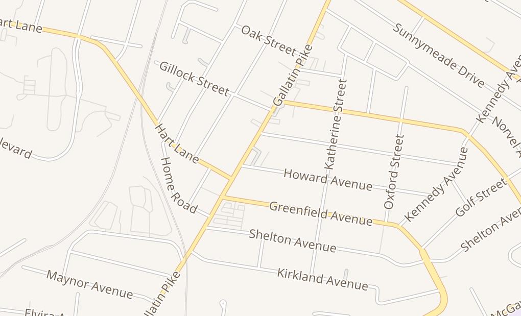 map of 3600 Gallatin PikeNashville, TN 37216