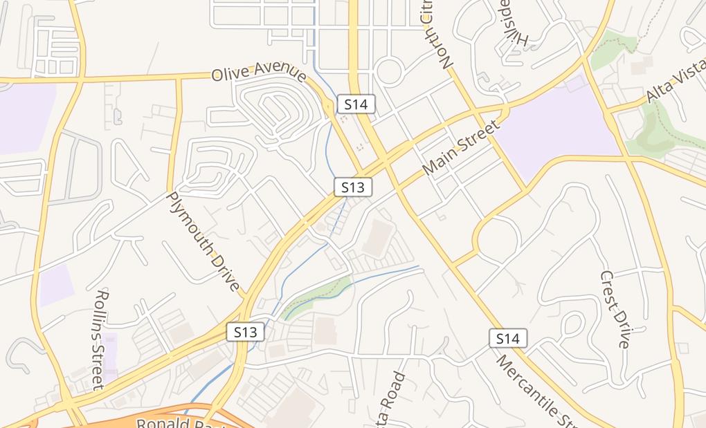 map of 30 Main StVista, CA 92083