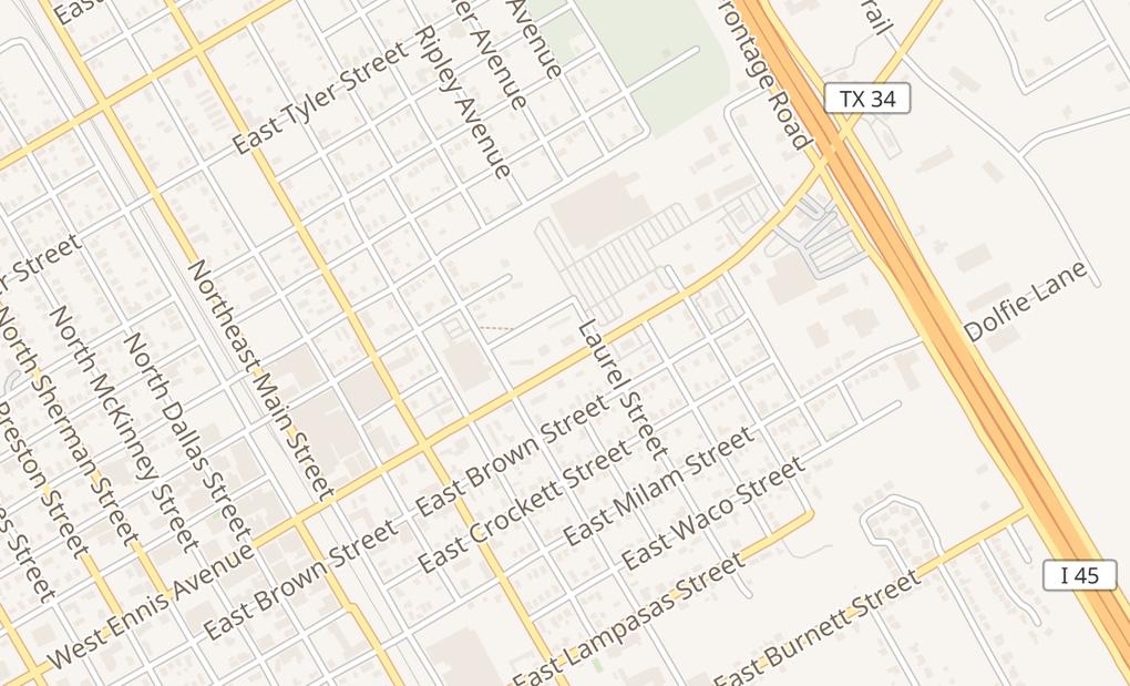 map of 600 E Ennis Ave Ste BEnnis, TX 75119